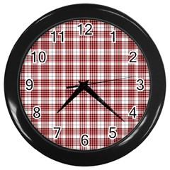 Buchanan Tartan Wall Clock (black)