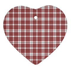 Buchanan Tartan Heart Ornament (Two Sides)