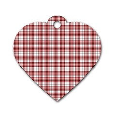 Buchanan Tartan Dog Tag Heart (Two Sided)