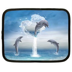 The Heart Of The Dolphins Netbook Case (XL)