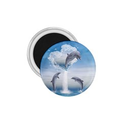 The Heart Of The Dolphins 1.75  Button Magnet