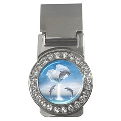The Heart Of The Dolphins Money Clip (cz)