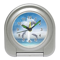 The Heart Of The Dolphins Desk Alarm Clock
