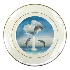 The Heart Of The Dolphins Porcelain Display Plate