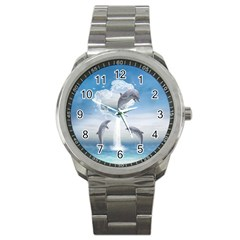 The Heart Of The Dolphins Sport Metal Watch