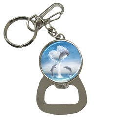 The Heart Of The Dolphins Bottle Opener Key Chain