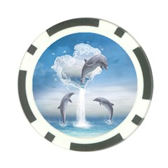 The Heart Of The Dolphins Poker Chip