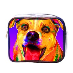 Happy Dog Mini Travel Toiletry Bag (One Side)