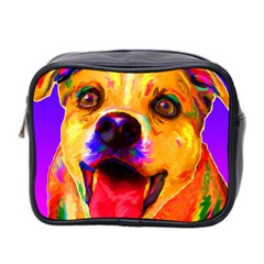 Happy Dog Mini Travel Toiletry Bag (two Sides)