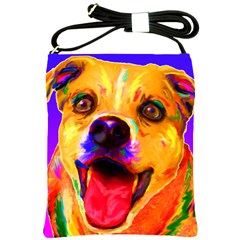 Happy Dog Shoulder Sling Bag