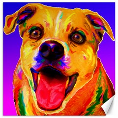 Happy Dog Canvas 12  x 12  (Unframed)