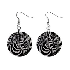 Zebra Mini Button Earrings