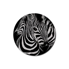 Zebra Drink Coasters 4 Pack (round)