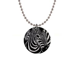 Zebra Button Necklace