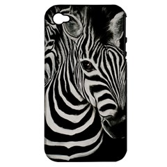 Zebra Apple Iphone 4/4s Hardshell Case (pc+silicone)