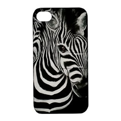 Zebra Apple iPhone 4/4S Hardshell Case with Stand