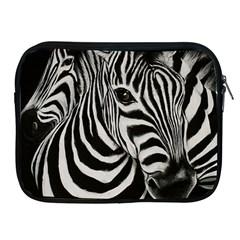 Zebra Apple iPad 2/3/4 Zipper Case
