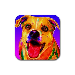 Happy Dog Drink Coaster (square)