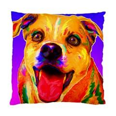 Happy Dog Cushion Case (one Side)