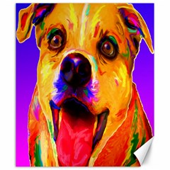 Happy Dog Canvas 20  X 24  (unframed)