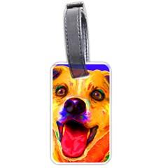 Happy Dog Luggage Tag (one Side)