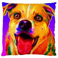 Happy Dog Large Cushion Case (Two Sides)