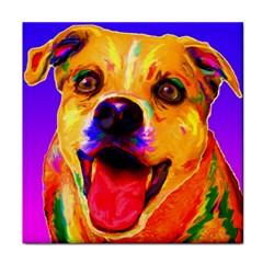 Happy Dog Ceramic Tile