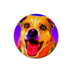 Happy Dog Drink Coasters 4 Pack (round)
