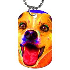 Happy Dog Dog Tag (One Sided)