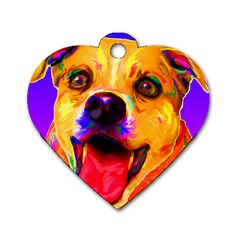 Happy Dog Dog Tag Heart (Two Sided)