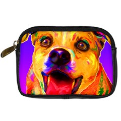 Happy Dog Digital Camera Leather Case