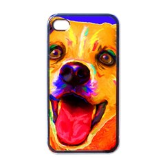 Happy Dog Apple iPhone 4 Case (Black)