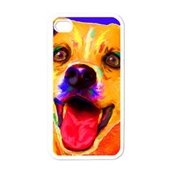 Happy Dog Apple iPhone 4 Case (White)