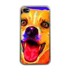 Happy Dog Apple Iphone 4 Case (clear)