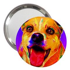 Happy Dog 3  Handbag Mirror