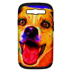 Happy Dog Samsung Galaxy S Iii Hardshell Case (pc+silicone)