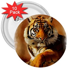 Tiger 3  Button (10 pack)