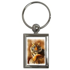 Tiger Key Chain (Rectangle)