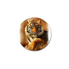 Tiger Golf Ball Marker 4 Pack