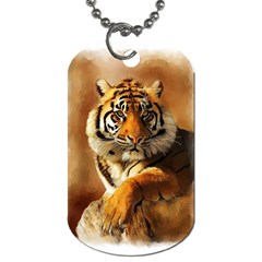 Tiger Dog Tag (two Sided)