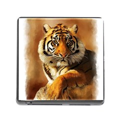Tiger Memory Card Reader with Storage (Square)