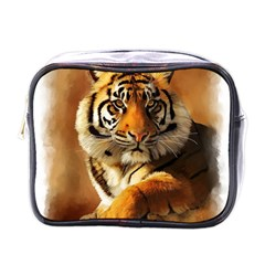 Tiger Mini Travel Toiletry Bag (One Side)