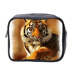 Tiger Mini Travel Toiletry Bag (Two Sides)