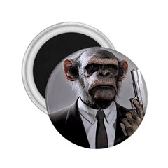 Monkey Business 2.25  Button Magnet