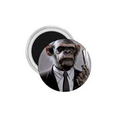 Monkey Business 1.75  Button Magnet