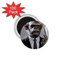 Monkey Business 1.75  Button Magnet (100 pack)