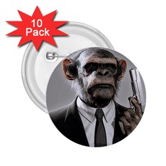 Monkey Business 2.25  Button (10 pack)