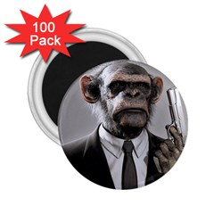 Monkey Business 2 25  Button Magnet (100 Pack)