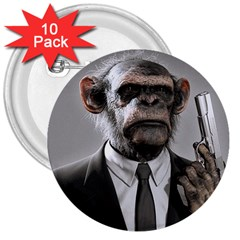 Monkey Business 3  Button (10 pack)