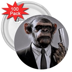 Monkey Business 3  Button (100 pack)